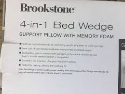 brookstone bed wedge pillow brookstone 4 in 1 bed wedge memory foamback support sleep