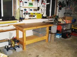 Garage Ideas Plans Garage Workbench Easy Garagebench Surprising Picture