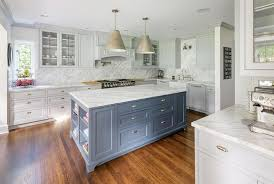 gray kitchen cabinets blue island gray blue island with light gray cabinets transitional