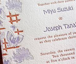 wedding invitations japan cho new japanese wedding invitation design letterpress wedding