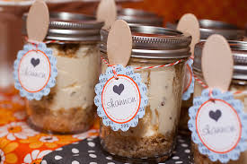 easy baby shower favors cheesecake party favors