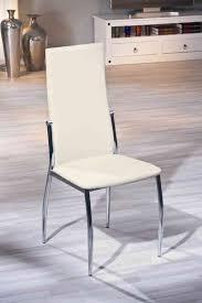 chaises design salle manger chaise de salle à manger design coloris écru dallas buffet bahut