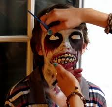 easymeworld halloween zombie face paint tutorial halloween
