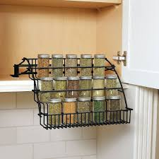 Kitchen Cabinet Spice Rack Organizer Rubbermaid Pull Down Spice Rack Walmart Com