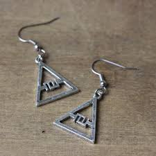seconds earrings 30 seconds to mars logo triad jared leto glyphics echelon glyph