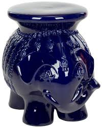 Ceramic Garden Decor Acs4501 Ceramic Elephant Stool Navy Home Decor Garden Decor Garden