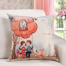 coussin chambre fille housse de coussin sofa pour chambre d enfant en coton avec