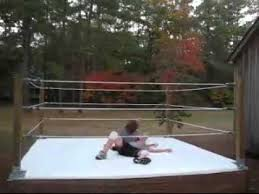 backyard wrestling ring for sale cheap wwke world wrestling kids entertaiment part 4 with real ring in