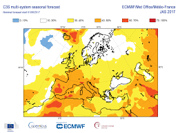 Map Of Europe Test by Summer Heat To Test Copernicus Programme U0027s Prediction Service