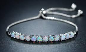 adjustable bracelet images Up to 58 off on fire opal adjustable bracelet groupon goods jpg