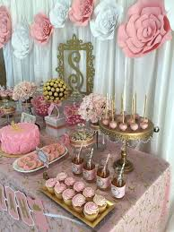 girl baby shower themes pink and gold baby shower baby shower party ideas gold baby