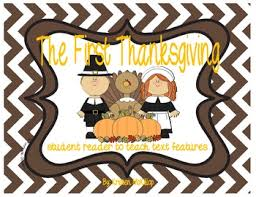 the thanksgiving student reader use to teach text features