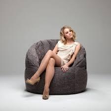 grey bean bag chair butterfly bean bag chair gold class luscious grey ambient