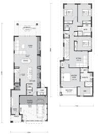 Narrow Home Floor Plans by Narrow Lot Homes Perth Pindan Homes