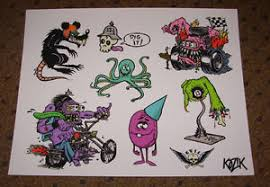 frank kozik fine art giclee print rat fink tattoos 11x14