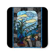 Stained Glass Vase Stained Glass Stickers Zazzle