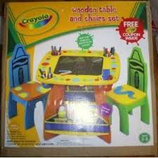 crayola table and chairs crayola wooden art table and chair set reviews viewpoints com
