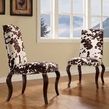 Furniture Choice Cowhide Dining Chairs Fun And Stylish Choice Of Dining Furniture