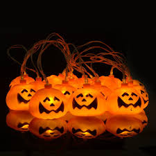 Orange Icicle Lights Halloween by Foomo Pumpkin String Lights Battery Operated String Light 16 Led