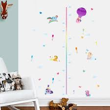 compare prices on girl height chart online shopping buy low price grow with pony growth chart wall stickers for girls room decor diy my little pony wall