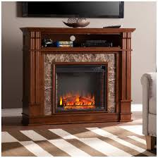 southern enterprises highgate faux stone electric media fireplace