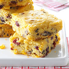 thanksgiving corn side dishes cranberry corn bread casserole recipe taste of home