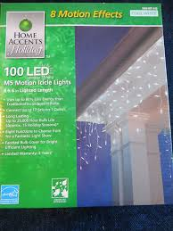 home accents 100 light led m5 faceted cool white icicle