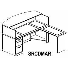 Ada Reception Desk Sorrento Reception Desk With Granite Counter Right Ada Return