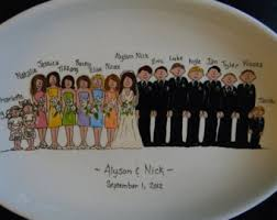 personalized ceramic wedding plates personalized ceramic wedding plate and groom and