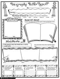 biography book report template pdf biography poster report