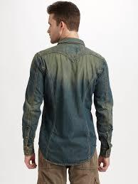 Comfort Colors Washed Denim Diesel Sweesty Washed Denim Shirt In Blue For Men Lyst