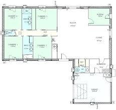plan villa plain pied 4 chambres plan maison plain pied 4 chambres en l 6 fr type a