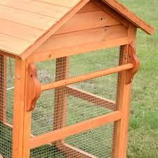 amazon com pawhut deluxe backyard chicken coop hen house w