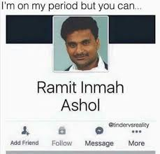 Meme Name - im on my period funny facebook name