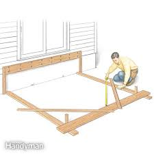 How To Make A Simple Storage Shed by Building A Deck The Family Handyman