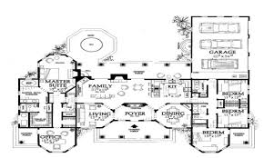 mediterranean home floor plans one story house