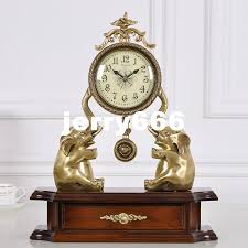 2017 european elephant clock copper ornaments personalized fashion