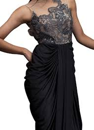 Draped Gown Siddartha Tytler Sensuous Black Draped Gown Shop Gowns At