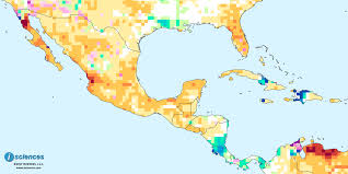 Map Of Caribbean And Central America by Mexico Central America U0026 The Caribbean Water Deficits In Much