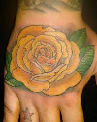 collection of 25 yellow rose tattoo