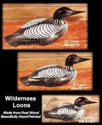 Hunting And Fishing Home Decor Carved Wood Loons Hunting Gifts Gifts For Hunters Gifts For