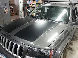 jeep grand cherokee stickers amazon com jeep grand cherokee wj hood blackout decal sticker matte