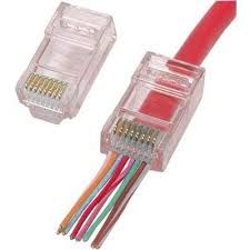 ez rj45 and rj11 12 plug connectors network and telephone connectors