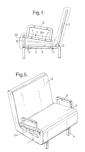 patent ep1281337a2 sofa bed google patents