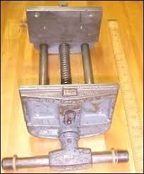 found on estatesales net antique w c toles woodworking vise no