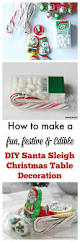 edible diy christmas table decorations santa u0027s sleigh setting