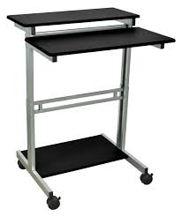 Adjustable Height Laptop Stand For Desk by Low Cost Luxor Manually Adjustable Stand Up Desk Workstation