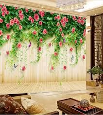 chambre rotin moderne creative rideau fleur rotin 3d chambre rideaux de