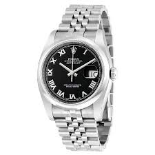 mens watches with bracelet images Rolex datejust 36 black dial stainless steel jubilee bracelet jpg