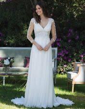 Grecian Wedding Dresses Chiffon V Neck Empire Wedding Dresses Ebay